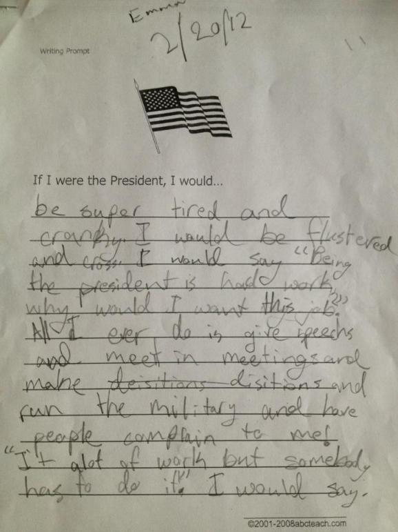 If i was the president essay
