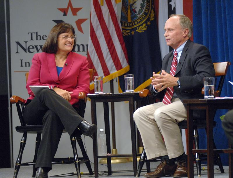 Candidates for New Hampshire's 2nd Congressional District: incumbent Republican Charlie Bass and Democratic challenger Ann McLane Kuster.