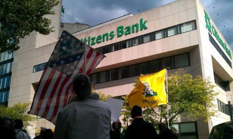 Occupy NH marches to Manchester Banks