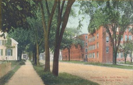 Postcard of The Wallace Shoe Factory, Rochester, New Hampshire.