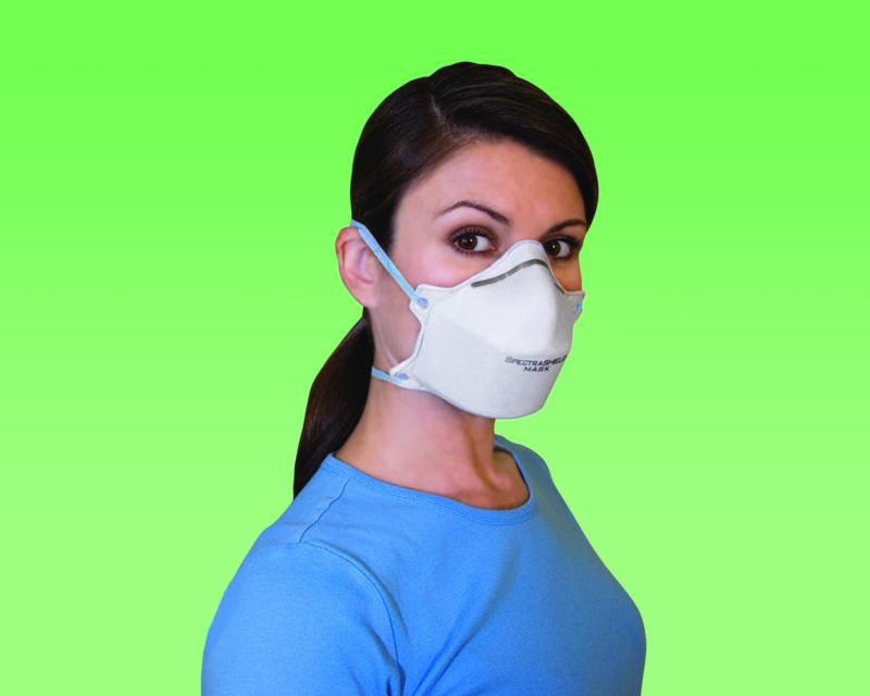 Foss Manufacturing's SpectraShield 9500 N95 Surgical Respirator Mask has built-in antibacterial surfaces and can be used by health care workers dealing with an infectious disease. It's a finalist in the Council's Product of the Year event in Manchester.