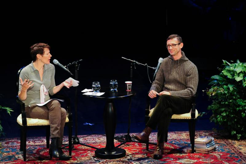Virginia Prescott and Chuck Palahniuk
