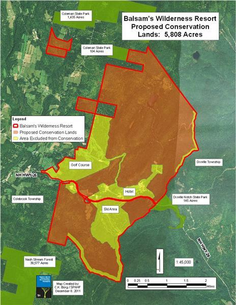 The proposed conservation easement at the Balsams.