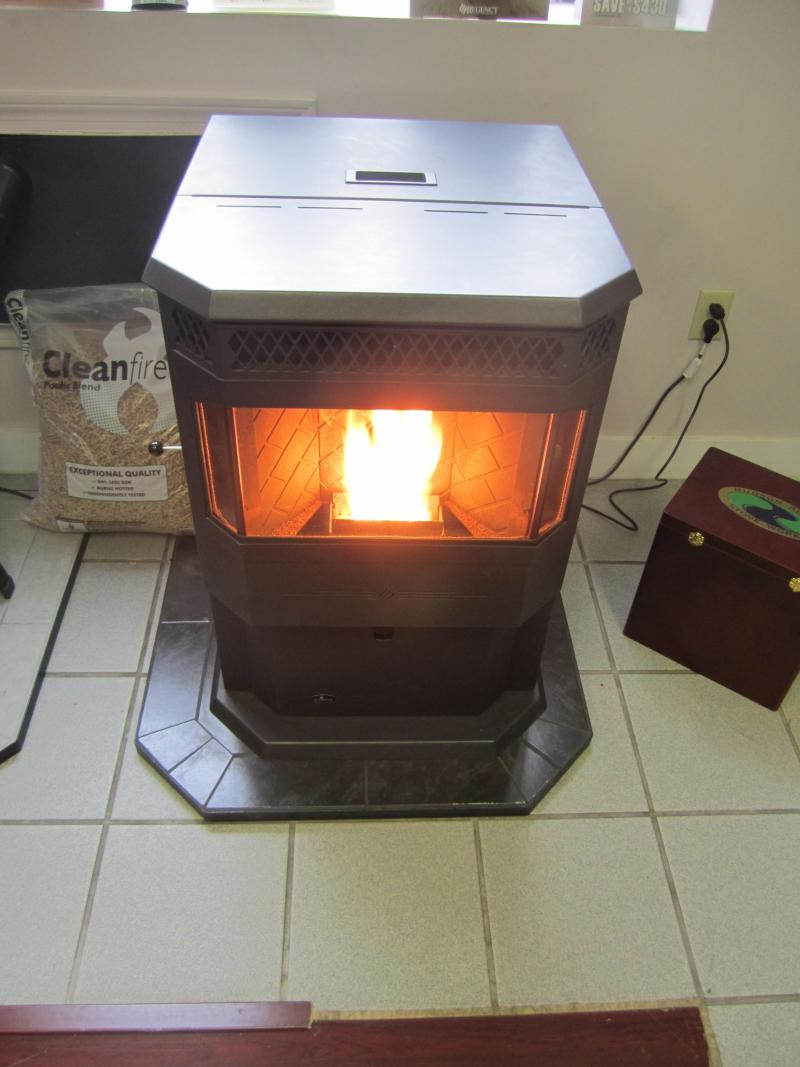 Pellet Stove in Action at Armstrong Hearth and Home