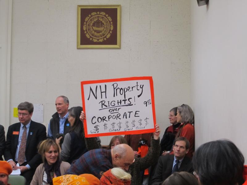 Northern Pass Opponents were displeased with the committee's decision.
