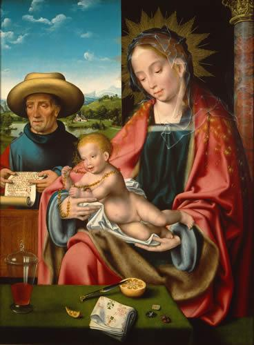 """The Holy Family,"" Joos van Cleve"