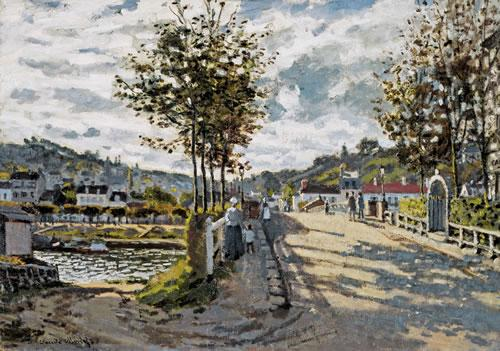 """The Seine at Bougival,"" Claude Monet"