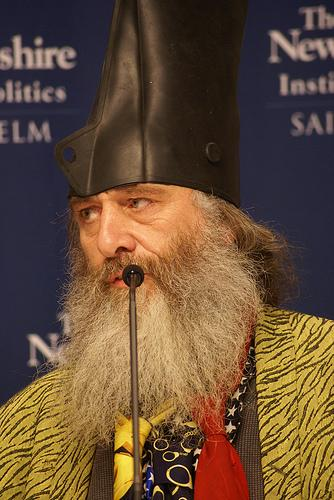 Vermin Supreme at the Lesser Known Candidates forum at Saint Anselm College, December 19, 2011.