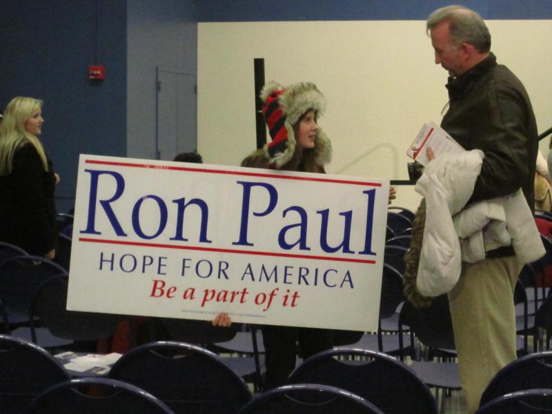 A young Ron Paul supporter in Durham, NH