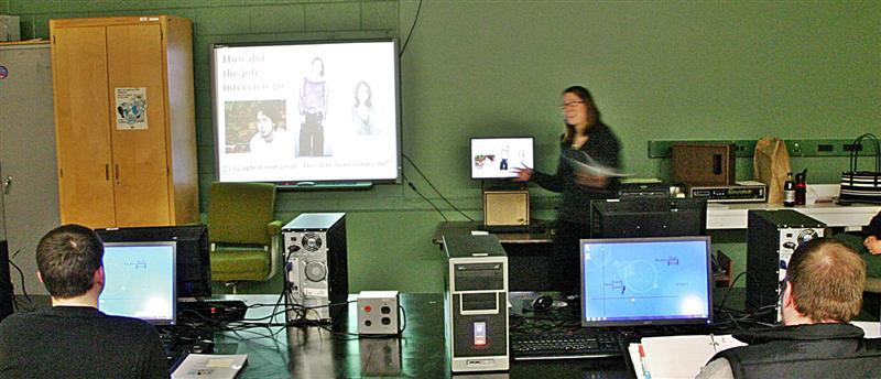 Heather Weste of the Family Resource Center in Gorham led one of the classes held by The North Country Talent Team.