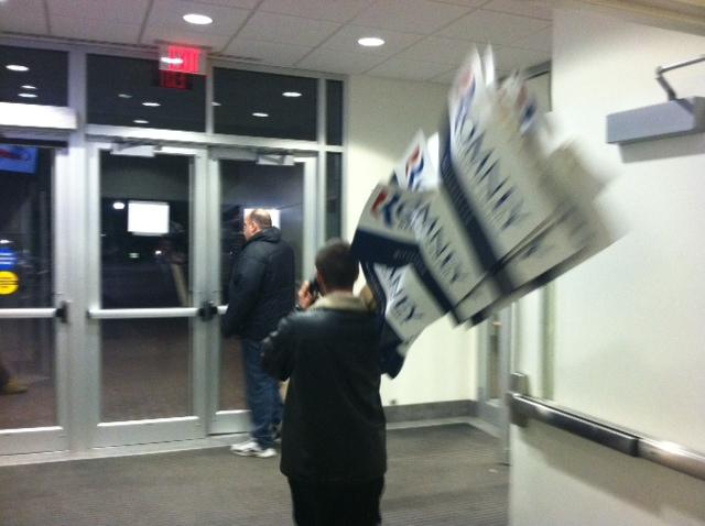 End of the night at Romney HQ