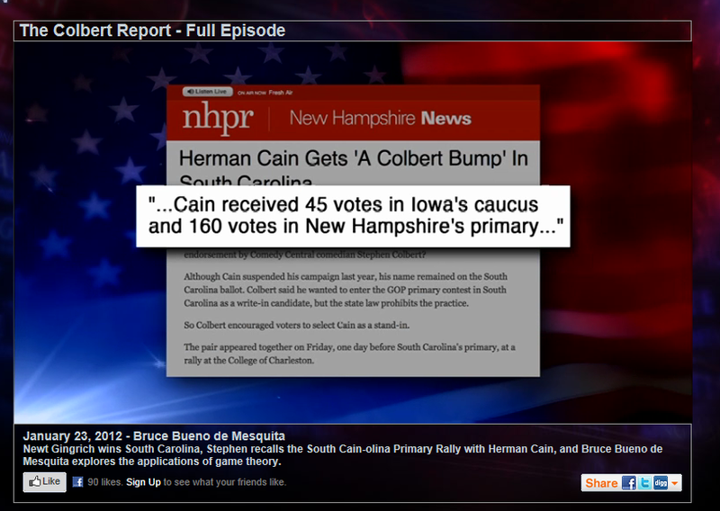 NHPR.org featured on the Colbert Report