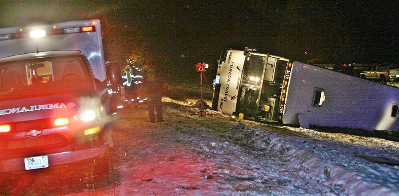 The crash brought rescuers from throughout the area.
