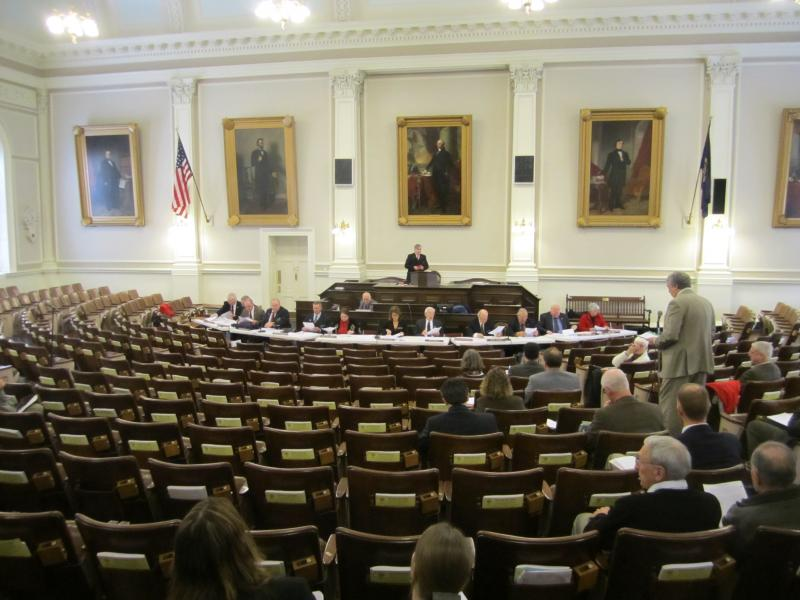 A House committee reserved Representatives Hall for the hearing on RGGI, but turnout was much more sparse than the space warranted.