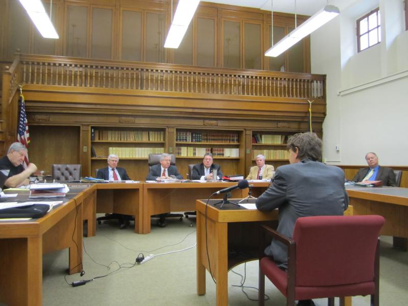 Ross Gittell testifies before the Senate Ways and Means Committee.