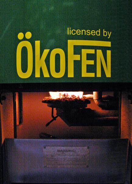 The OkoFEN boilers are made in Austria but imported and assembled by a company in Bethel, Maine.