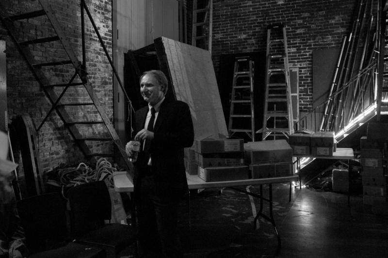 Dan Brown waits backstage at the Music Hall in Portsmouth