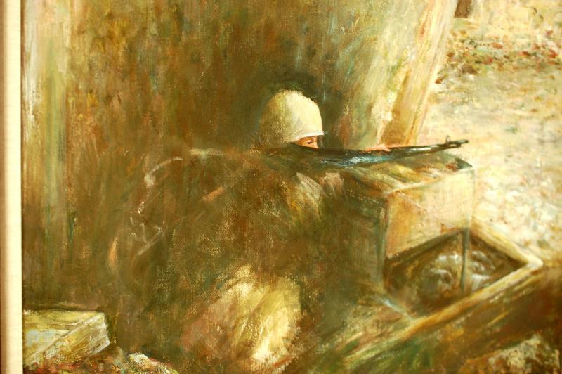 "Elaine Morrison's painting ""Inner Conflict."""