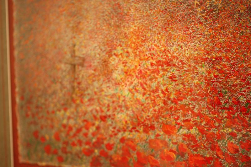 "Elaine Morrison's painting ""Flanders Field."""