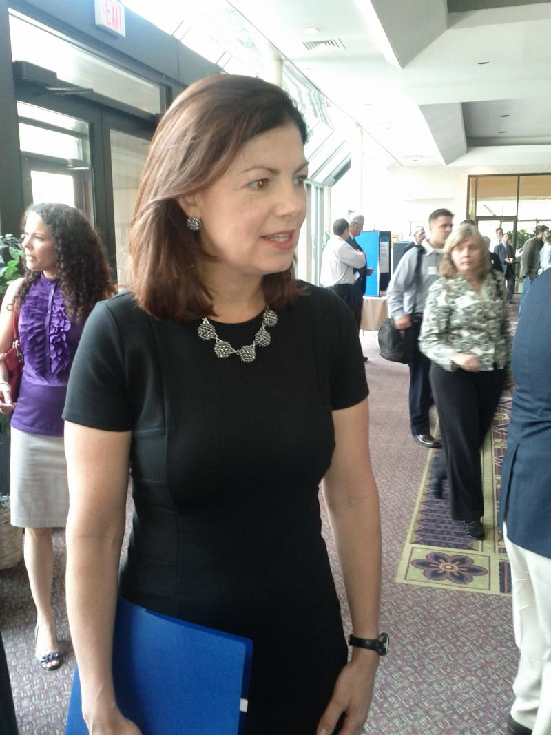 Senator Kelly Ayotte at a small business conference in Manchester's Radisson.