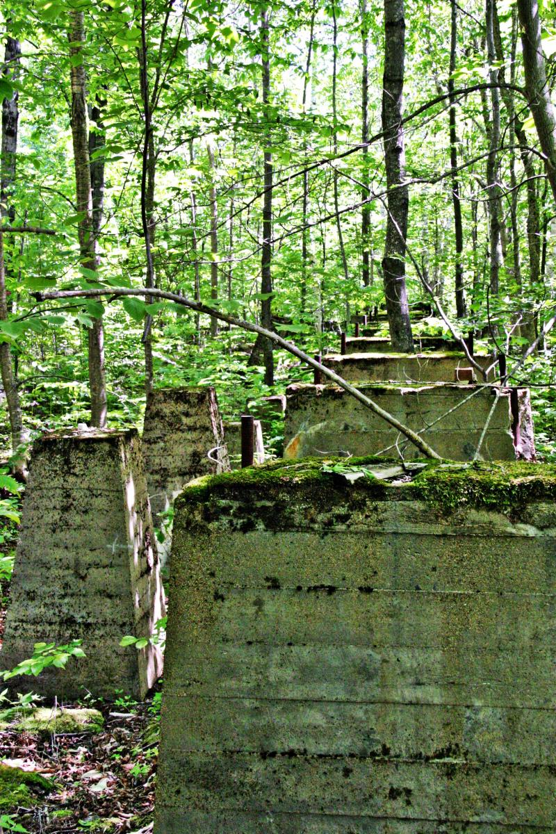 Supports for the old mill.