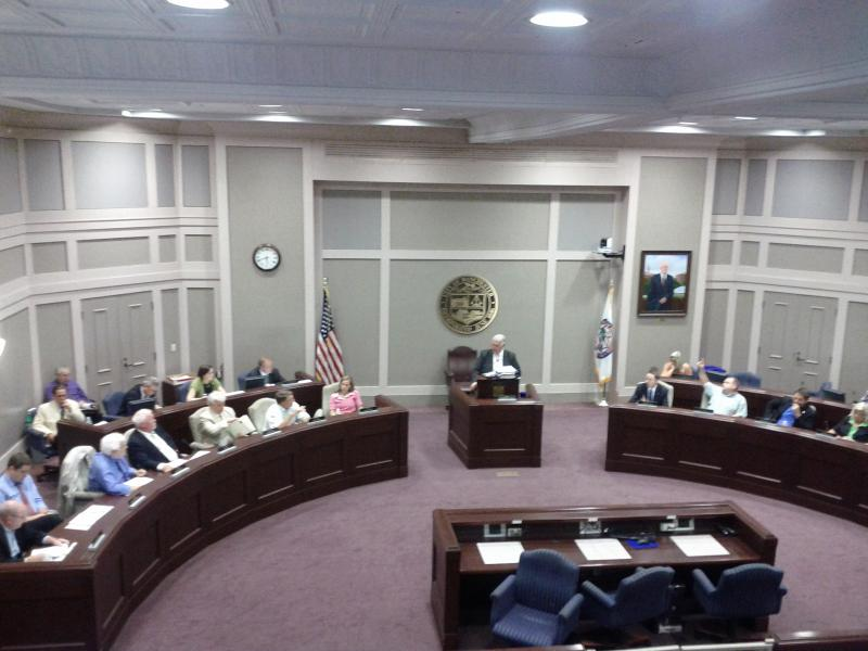 Mayor Gatsas and the Manchester Board of Aldermen in City Hall.