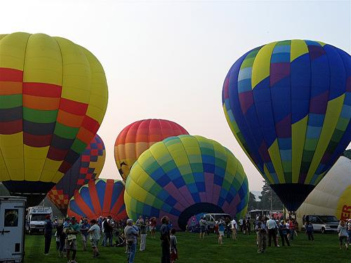 Hot air balloon rides can be an enjoyable event for the whole family.