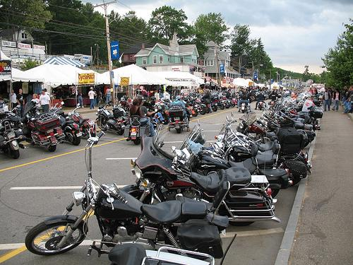 The streets of Laconia during Bike Week.