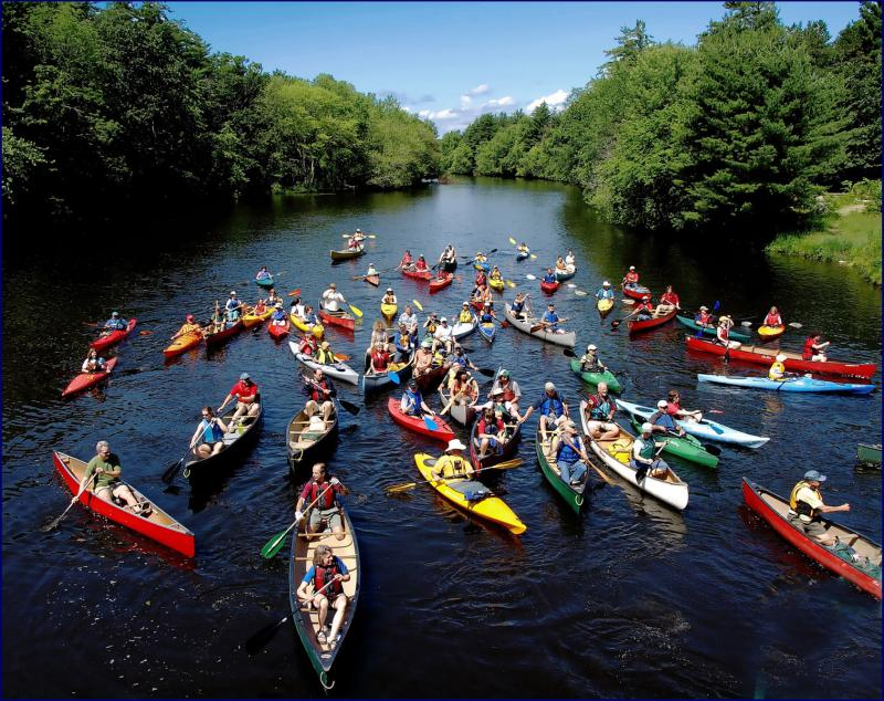 "The Nashua River today, as shown in the film ""Marion Stoddart: The Work of 1000."""
