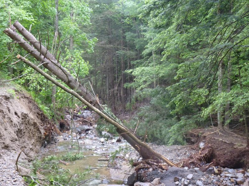 Damage to White Brook Road in Gilsum