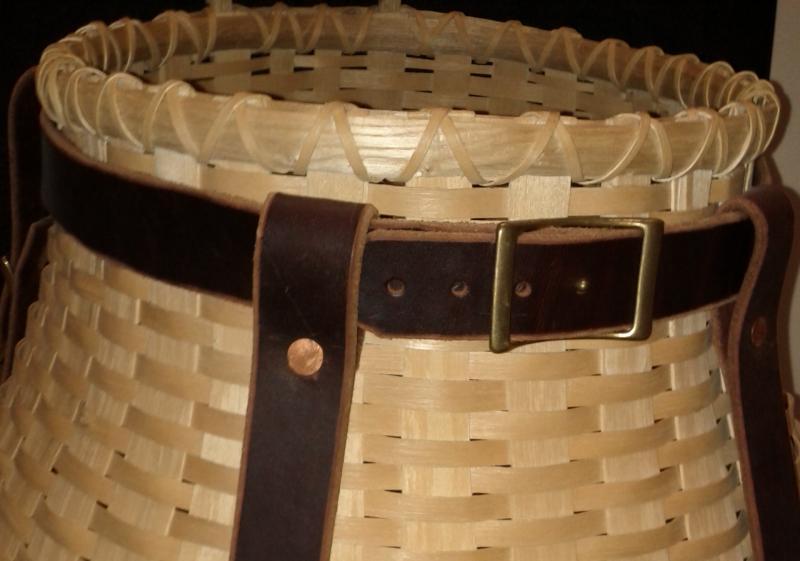 Hand-woven ash basket