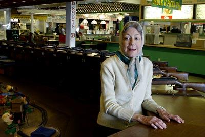 Elizabeth Moreau of Salisbury has run the shooting gallery at the Hampton Beach Arcades for twenty years.
