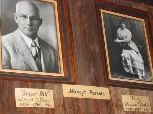 "Wilfred ""SugarBill"" Dexter and his wife, Polly Dexter, the Parlor's namesake."