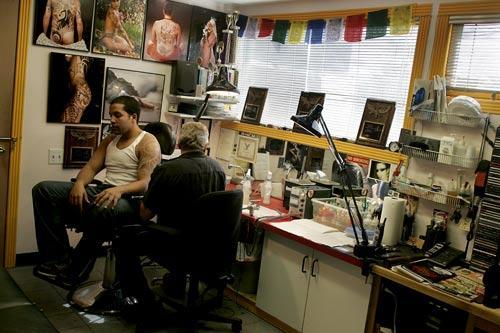 Trevor working on Boston DJ Santiago Deoleo.