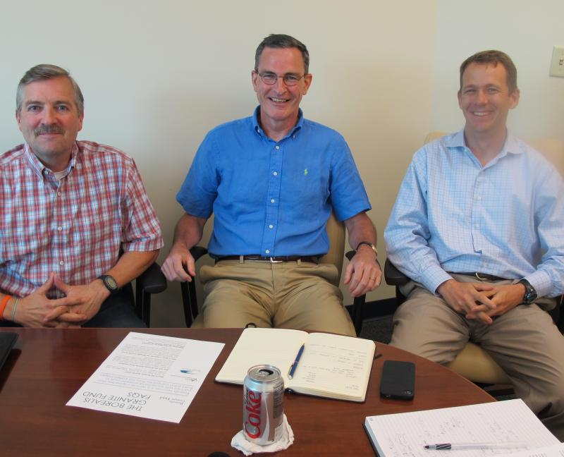 Jesse Devitte and Matt Rightmire of Borealis Ventures; Jack Donovan of N.H. Business Finance Authority