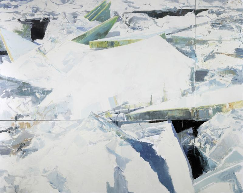 Eric Aho, Ice Field, 2009, Oil on linen and panel, 80 x 100 inches. Courtesy of the artist and DC Moore Gallery, New York.