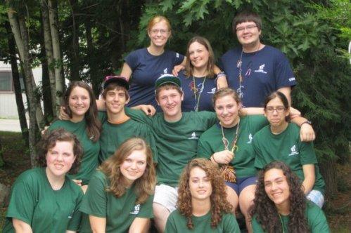 Susanna (bottom row, second from left) with her class at NH Teen Institute.