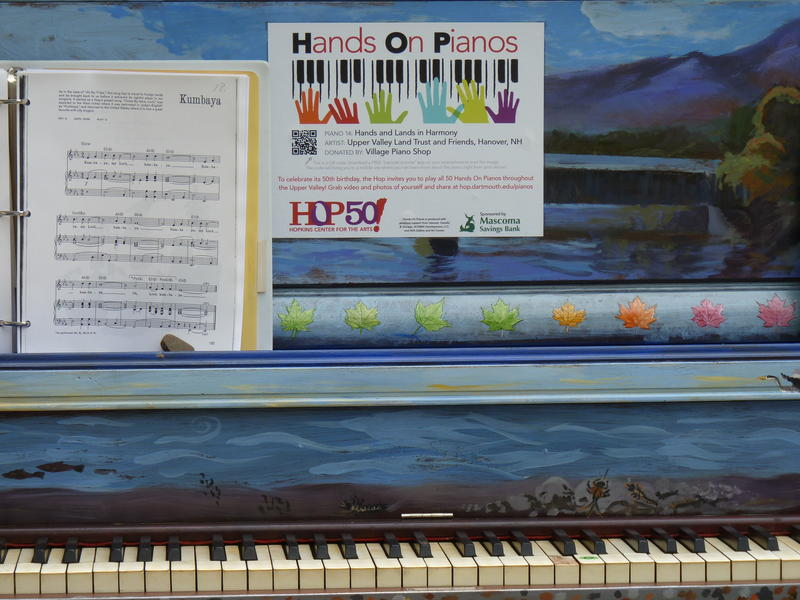 Artists decorated the donated pianos.