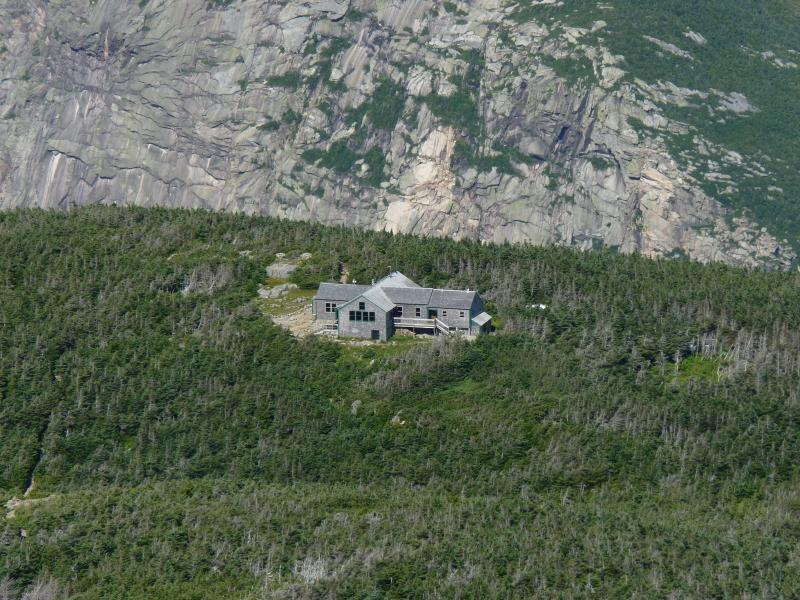 Greenleaf Hut sits on the Franconia Ridge.