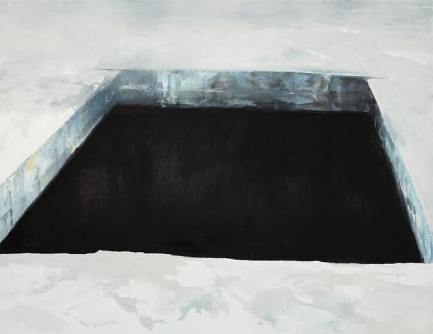 Eric Aho, Ice Cut (1932), 2010, Oil on linen, 62 x 80 inches. Courtesy of the artist and DC Moore Gallery, New York.