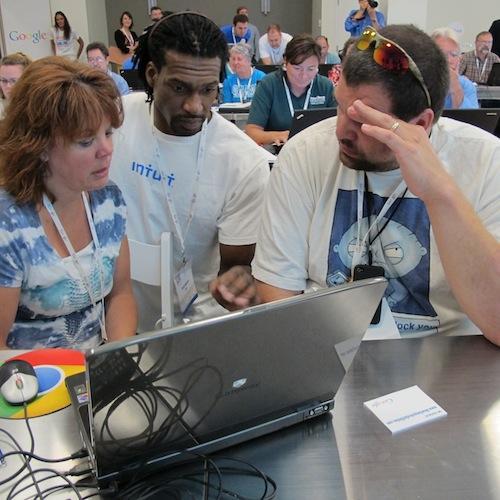 Member of Intuit assists two entrepreneurs