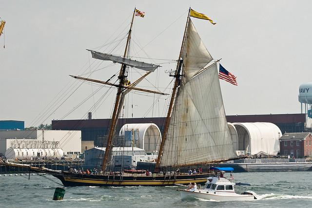The Pride of Baltimore II in Portsmouth in 2007.