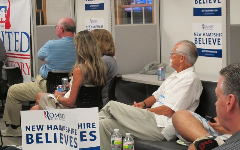 Viewers watch the RNC convention in Windham