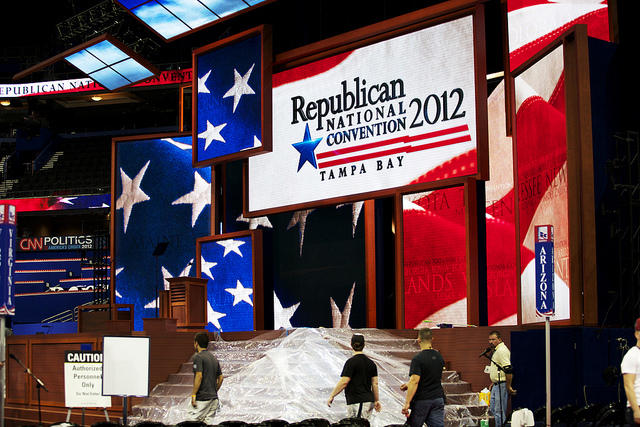 Republican National Convention setup at the Tampa Bay Times Forum on Aug. 25, 2012.