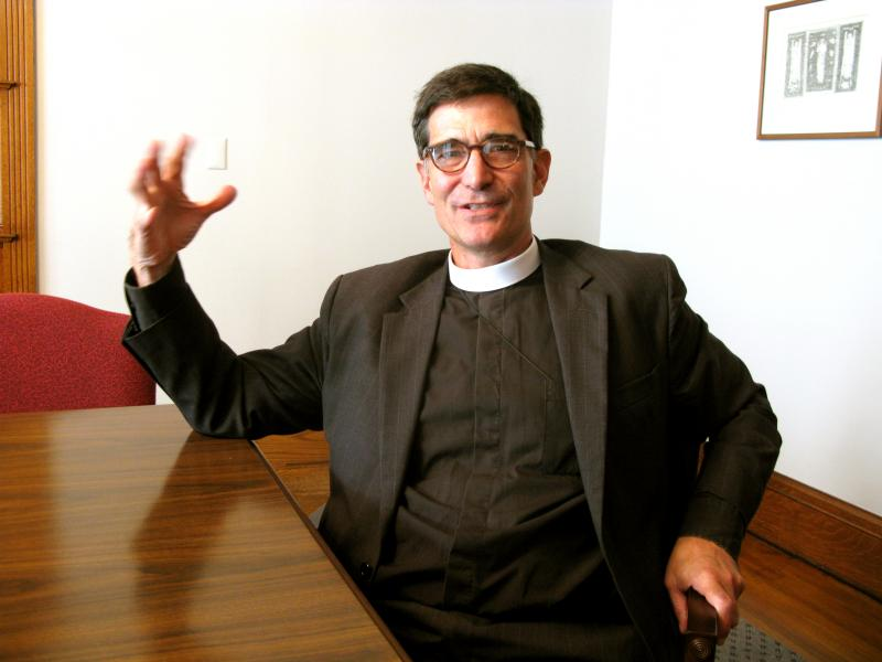 Bishop Coadjutor-elect Robert Hirschfeld. This weekend he'll be consecrated as Bishop Coadjutor, and in January he'll serve as Bishop for the Episcopal Diocese of New Hampshire.