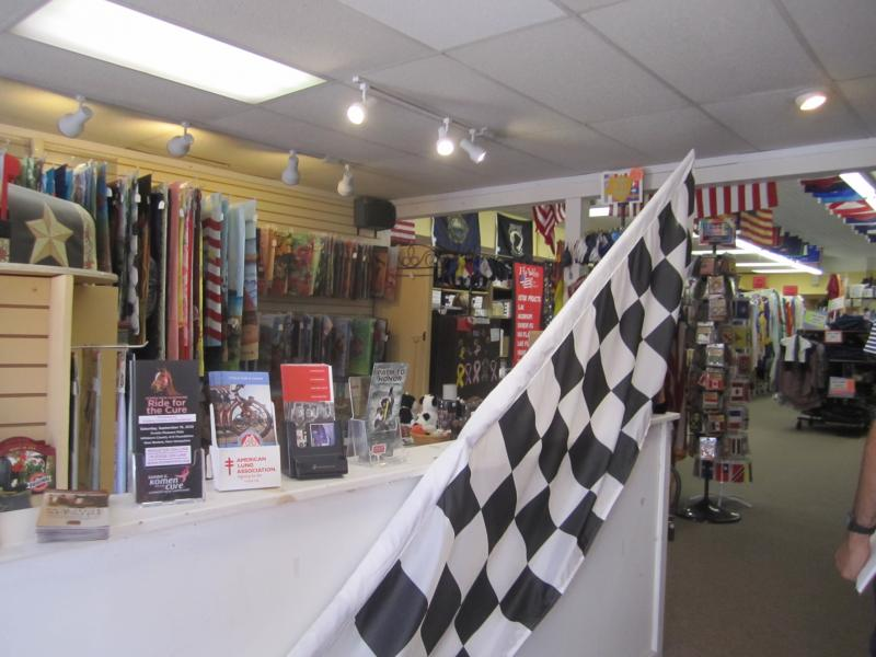 Inside Flagworks of downtown Concord
