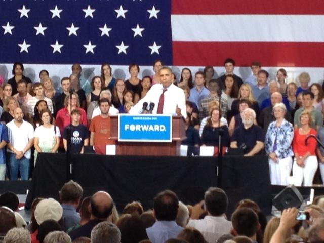 President Obama campaigns in Windham.