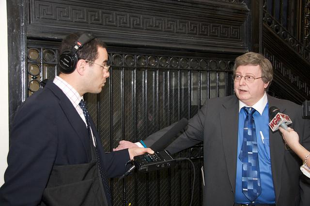 NHPR's Dan Gorenstein interviews State Rep Andrew Renzullo, a Republican from Hudson, following Governor Lynch's inauguration, January 8, 2009.