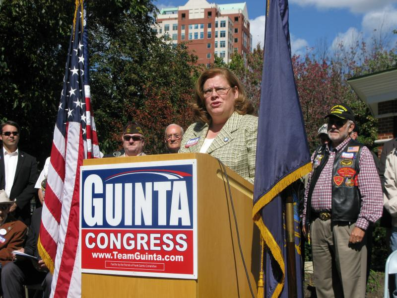 Veteran and State Senator Sharon Carson of Londonderry defends Guinta's record of supporting veterans.