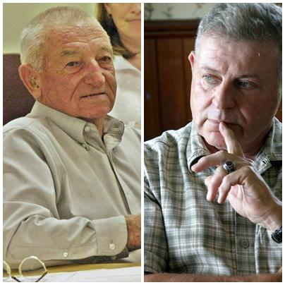 Bing Judd, left, lost his county commissioner's seat to Rick Samson. Photos by Chris Jensen